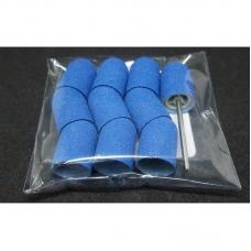 Набор 10 колпачков + основа Мультибор, 10 мм, синий (60 гритт)