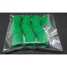 Набор 10 колпачков + основа Мультибор, 10 мм, зеленый (60 гритт)