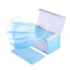 Маски защитные одноразовые, 50 шт, голубые (плотные)