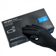 Перчатки Nitrylex нитриловые, M, черный